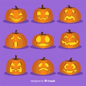 Diseño gratuito para Halloween calabazas