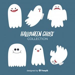 Diseño gratuito para Halloween fantasmas
