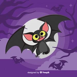 Diseño gratuito para Halloween murciélago