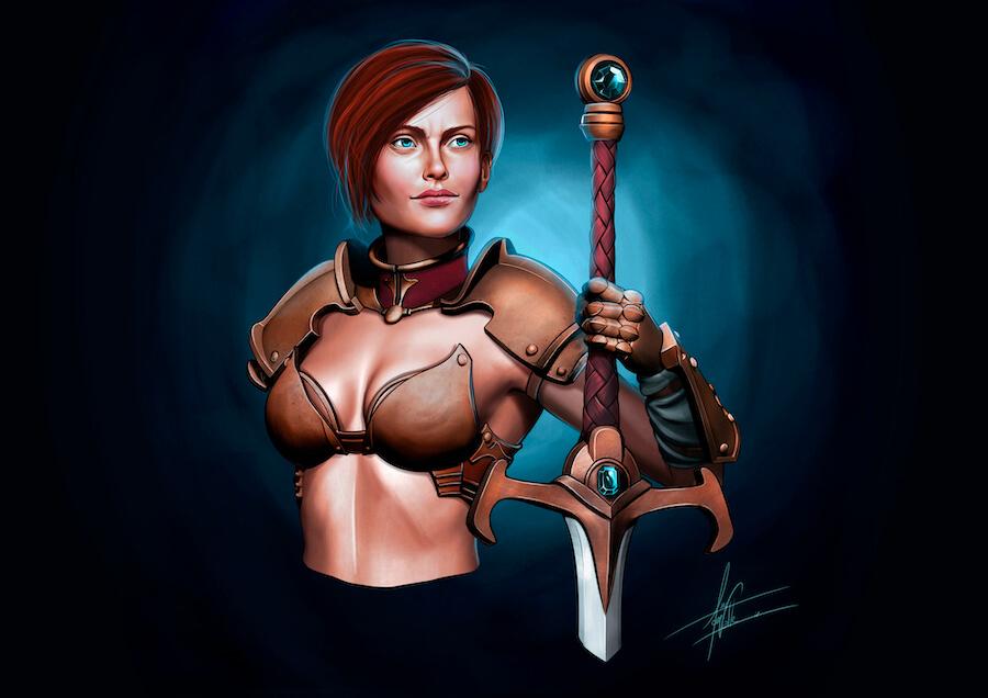 Keera, Justicia Ciega ilustración