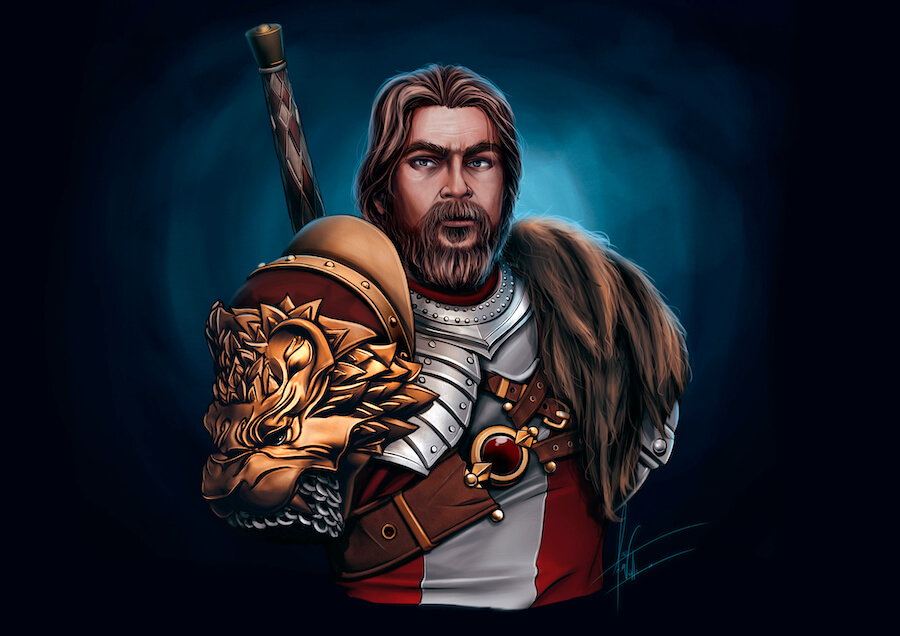 Keynan, King of Lions ilustración