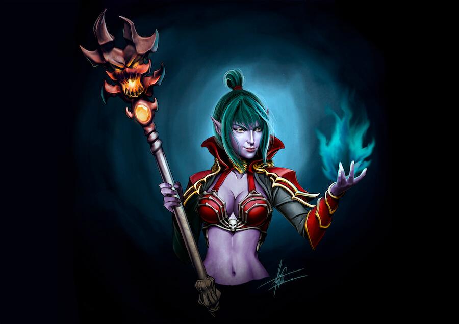 Lisbeth, Oráculo de Fuego ilustración