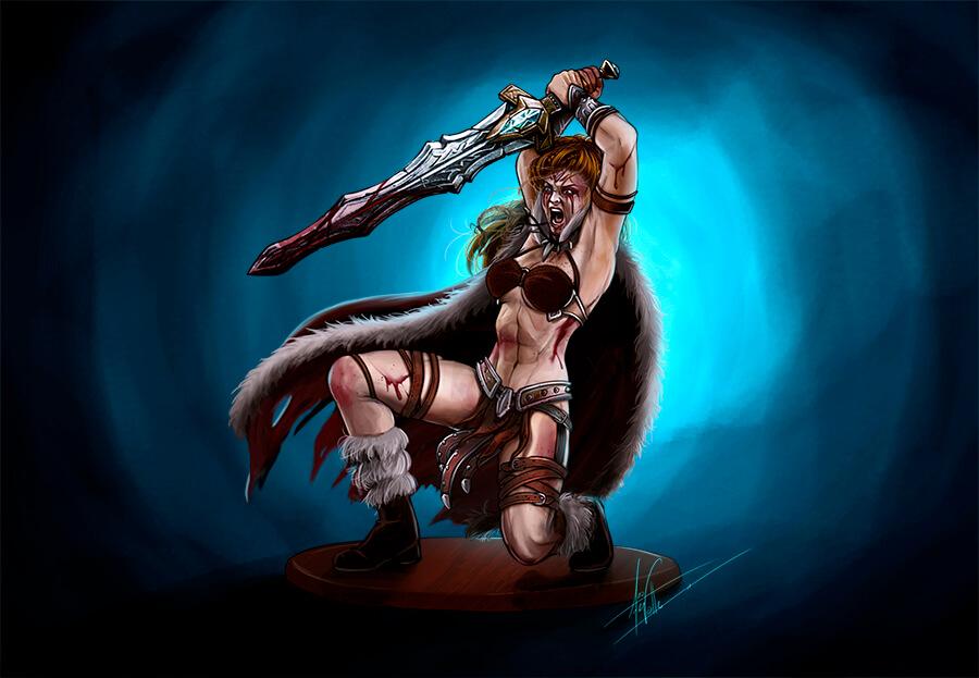 Thaal, Dragon Fury ilustración