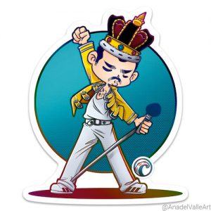 Freddy Mercury cantante Queen pegatina
