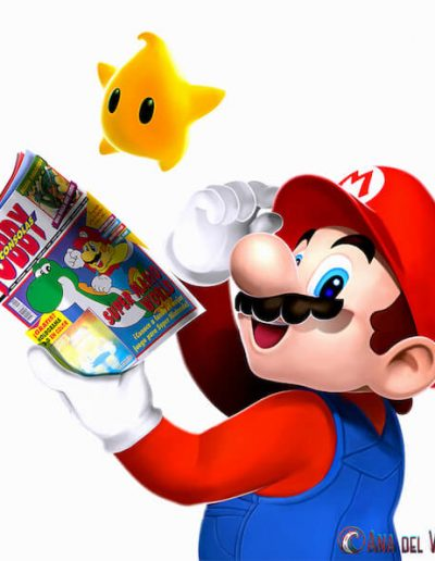 Diseño interior de Mario para revista Hobby Consolas.