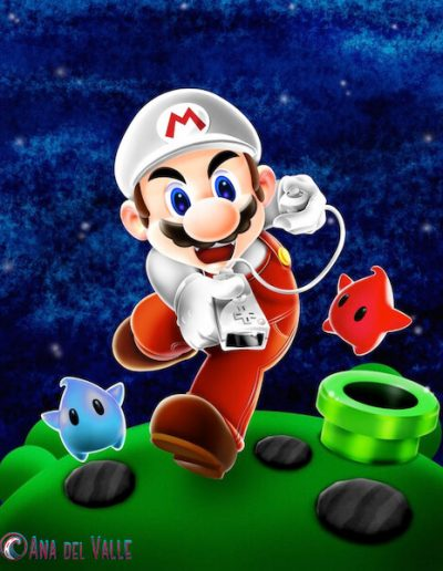 Diseño de portada con Mario para revista Hobby Consolas.