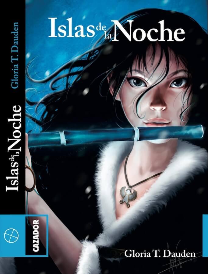 Islas de la noche, novela Gloria T Dauden, Ilustración de portada de Leda