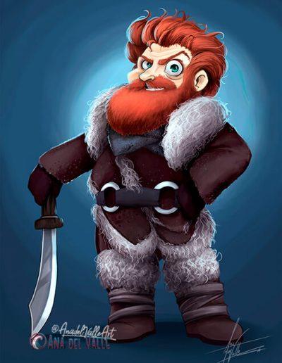 Fanart de Tormund, personaje de Juego de Tronos (Game of thrones)