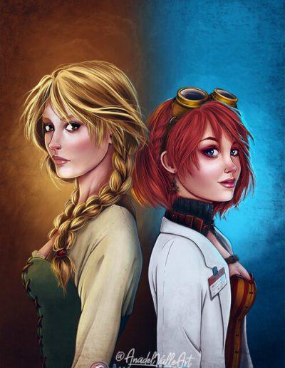 Ilustración portada novela