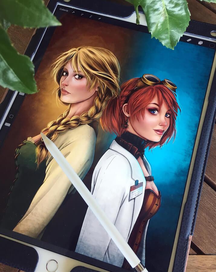 Ilustración portada novela boceto