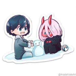 FranXX Hir0two Pegatina sticker