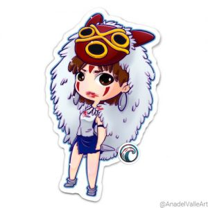Ghibli princess Monoke Pegatina sticker