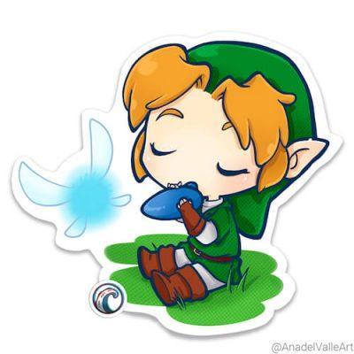 Link Zelda Pegatina sticker