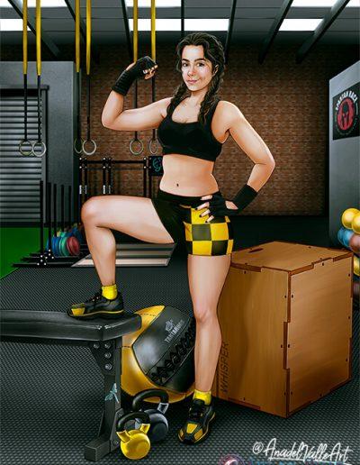 Retrato deportista en gimnasio