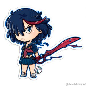 Ryuuko Kill la Kill Pegatina sticker