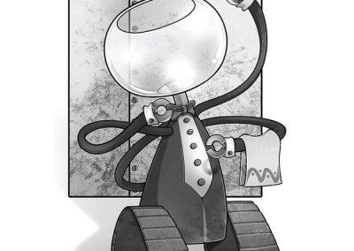 """Ilustración para cuento """"A mil años luz de Alfa Centauro"""" (Ed Edimater)"""