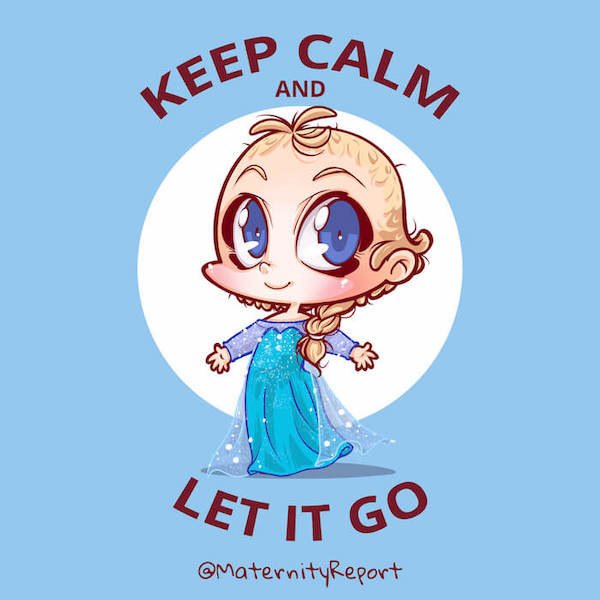 baby cosplay base1 Elsa Frozen blue